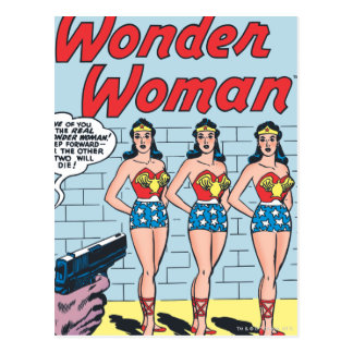 Wonder Woman Triple Identity Postcard