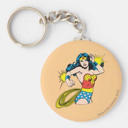 Wonder Woman Twist with Glowing Cuffs Keychain