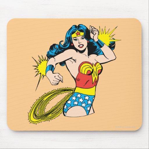 Wonder Woman Twist with Glowing Cuffs Mousepad