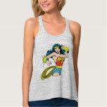 Wonder Woman Twist with Glowing Cuffs Flowy Racerback Tank Top