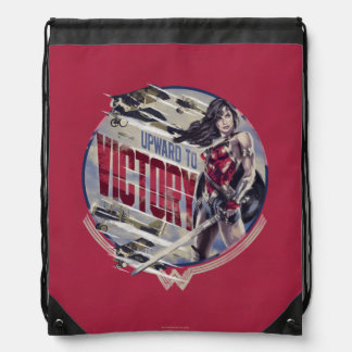 Wonder Woman Upward To Victory Drawstring Bag