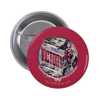 Wonder Woman Upward To Victory Pinback Button