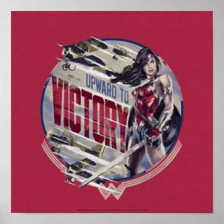 Wonder Woman Upward To Victory Poster