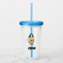 Wonder Woman | Vintage Pose with Lasso Acrylic Tumbler