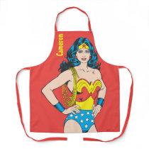 Wonder Woman   Vintage Pose with Lasso Apron