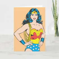 Wonder Woman   Vintage Pose with Lasso Card