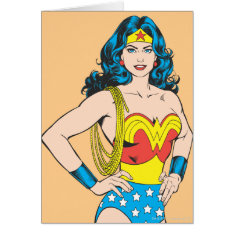 Wonder Woman | Vintage Pose With Lasso Card at Zazzle