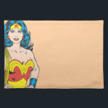 "Wonder Woman | Vintage Pose with Lasso Cloth Placemat<br><div class=""desc"">Wonder Woman Portrait</div>"