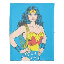 Wonder Woman   Vintage Pose with Lasso Duvet Cover