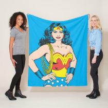 Wonder Woman   Vintage Pose with Lasso Fleece Blanket