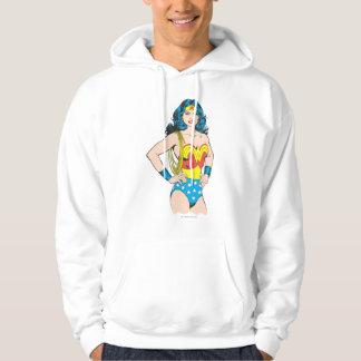 Wonder Woman   Vintage Pose with Lasso Hoodie
