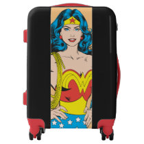 Wonder Woman | Vintage Pose with Lasso Luggage