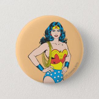 Wonder Woman | Vintage Pose with Lasso Pinback Button