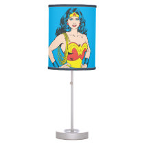 Wonder Woman | Vintage Pose with Lasso Table Lamp