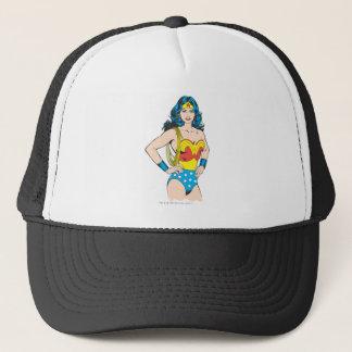 Wonder Woman | Vintage Pose with Lasso Trucker Hat