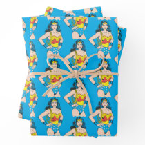 Wonder Woman   Vintage Pose with Lasso Wrapping Paper Sheets