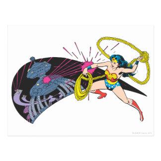 Wonder Woman vs Robot Postcard