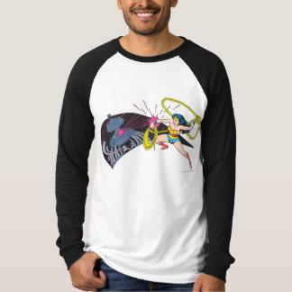 Wonder Woman vs Robot T Shirt