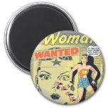Wonder Woman Wanted 2 Inch Round Magnet