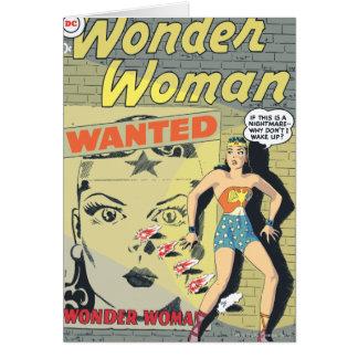 Wonder Woman Wanted Card
