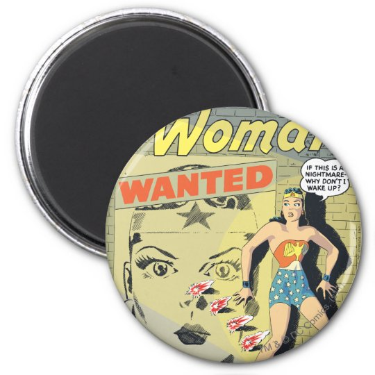 Wonder Woman Wanted Magnet