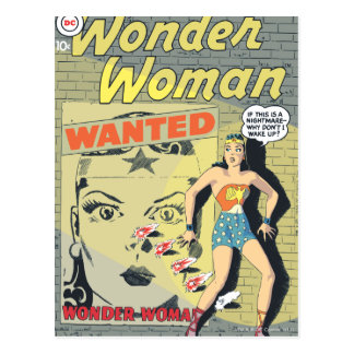 Wonder Woman Wanted Postcard