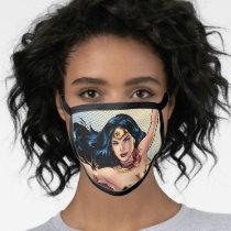 Wonder Woman Wearing Cape Face Mask