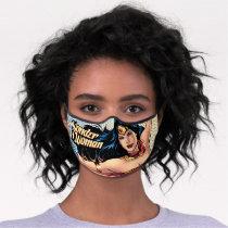 Wonder Woman Wearing Cape Premium Face Mask