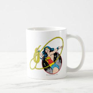 Wonder Woman with City Background Coffee Mug
