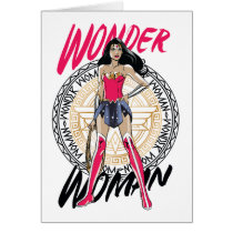 Wonder Woman With Greek Tribal Emblem