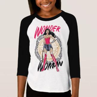 Wonder Woman With Greek Tribal Emblem T-Shirt