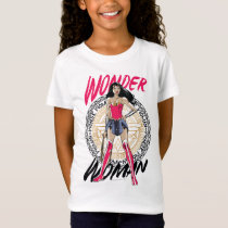 Wonder Woman With Greek Tribal Emblem T-Shirt