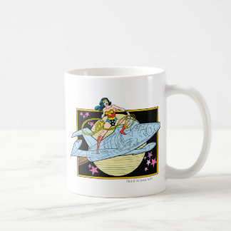 Wonder Woman with Jet Coffee Mug