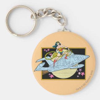 Wonder Woman with Jet Keychain