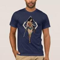 Wonder Woman With Sword Comic Art T-Shirt