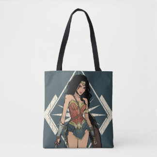 Wonder Woman With Sword Comic Art Tote Bag