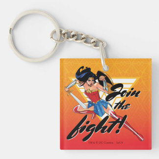 Wonder Woman With Sword - Join The Fight Keychain