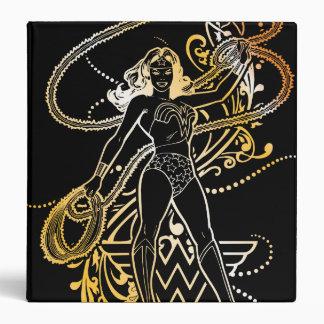 Wonder Woman Yellow Fade Vinyl Binders