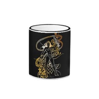 Wonder Woman Yellow Fade Ringer Coffee Mug