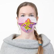 Wonder Woman Yellow-Pink Comic Art Logo Adult Cloth Face Mask