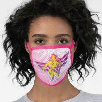 Wonder Woman Yellow-Pink Comic Art Logo Face Mask