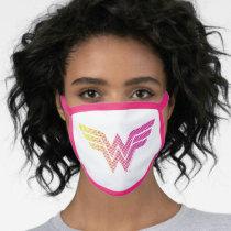 Wonder Woman Yellow-Pink Halftone Gradient Logo Face Mask