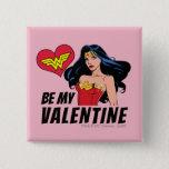 Wonder Woman   You're Wonderful Valentine Button