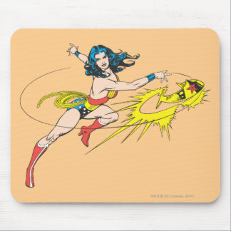 Wonder WomanThrows Crown Mouse Pad