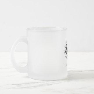 """Wonder World"" - Eye Frosted Glass Coffee Mug"