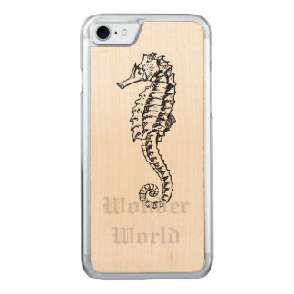 """Wonder World"" - Seahorse Carved iPhone 8/7 Case"