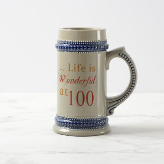 Wonderful 100th Birthday Gifts Beer Stein