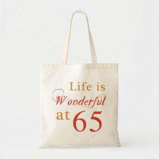 Wonderful 65th Birthday Gifts Tote Bags