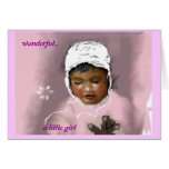 wonderful - A little girl Greeting Card