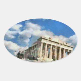 Wonderful Acropolis in Athens Oval Sticker